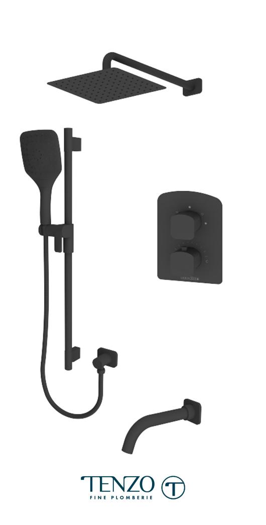 DET33-501115-MB - Shower kit, 3 functions