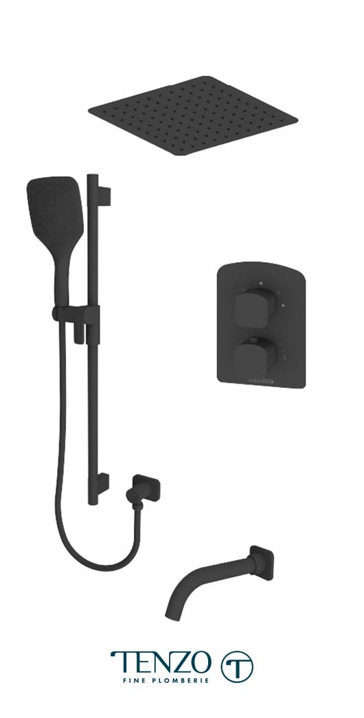 DET33-511645-MB - Shower kit, 3 functions
