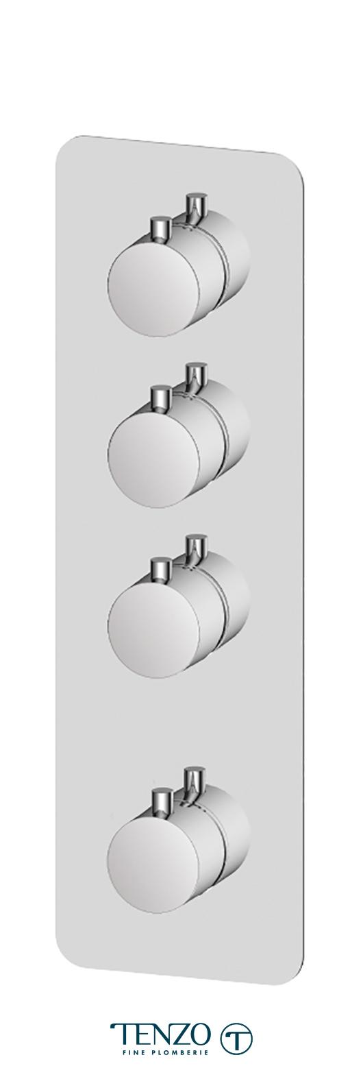 RUT43-CR - Extenza valve Rundo thermo. 3 functions chrome