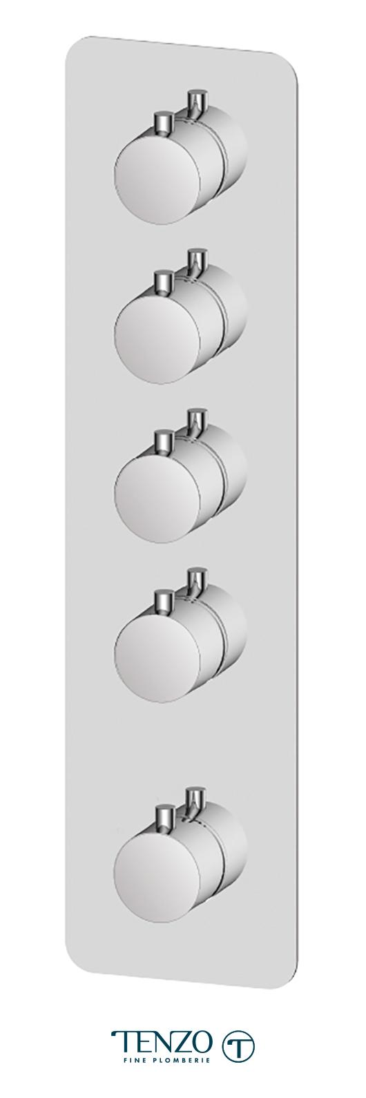 RUT44-CR - Extenza valve Rundo thermo. 4 functions chrome