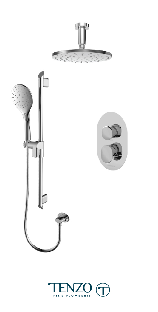FLPB32-21134-CR - Shower kit, 2 functions