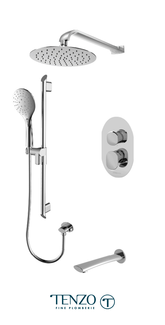 FLPB33-501115-CR - Shower kit, 3 functions