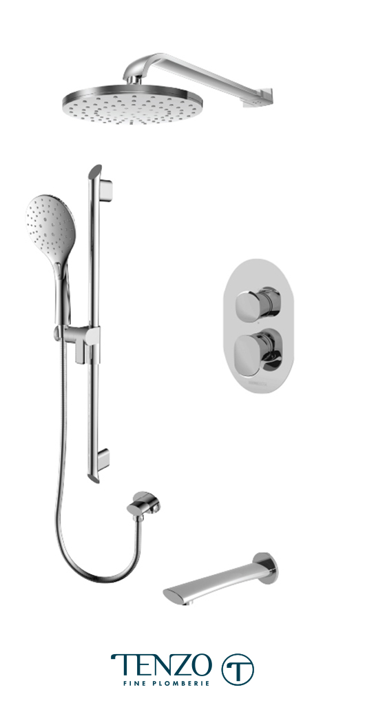FLPB33-501145-CR - Ensemble de douche T-Box, 3 fonctions, Fluvia
