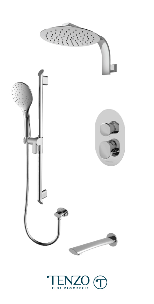 FLPB33-501195-CR - Ensemble de douche T-Box, 3 fonctions, Fluvia