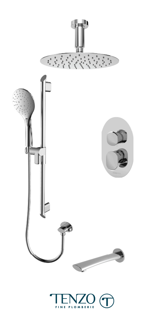 FLPB33-511315-CR - Shower kit, 3 functions