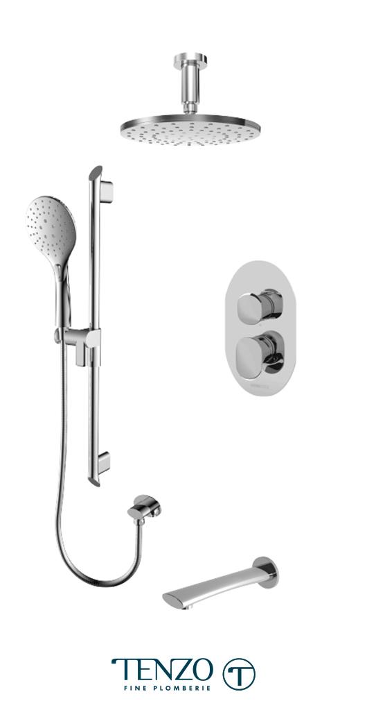 FLPB33-511345-CR - Shower kit, 3 functions