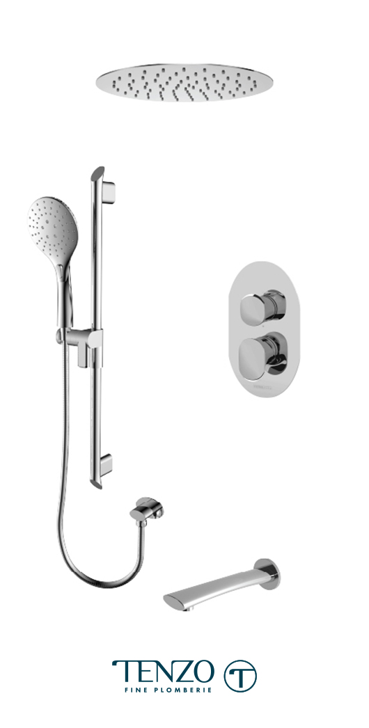 FLPB33-511635-CR - Shower kit, 3 functions