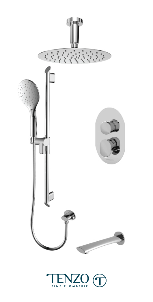 FLPB33-513315-CR - Shower kit, 3 functions