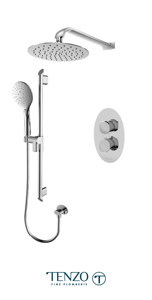 FLT32-20111-CR - Ensemble de douche T-Box, 2 fonctions, Fluvia