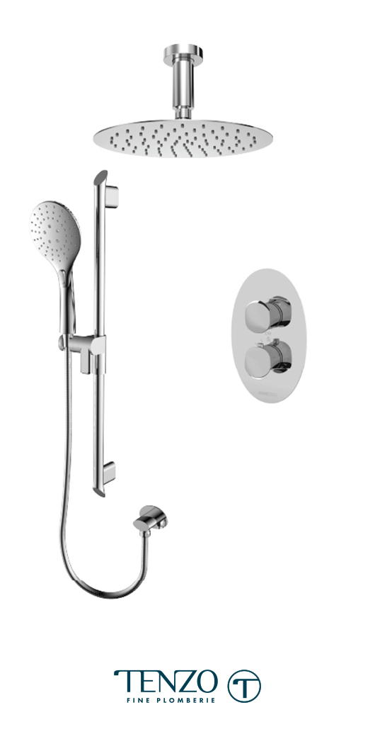 FLT32-21131-CR - Ensemble de douche T-Box, 2 fonctions, Fluvia