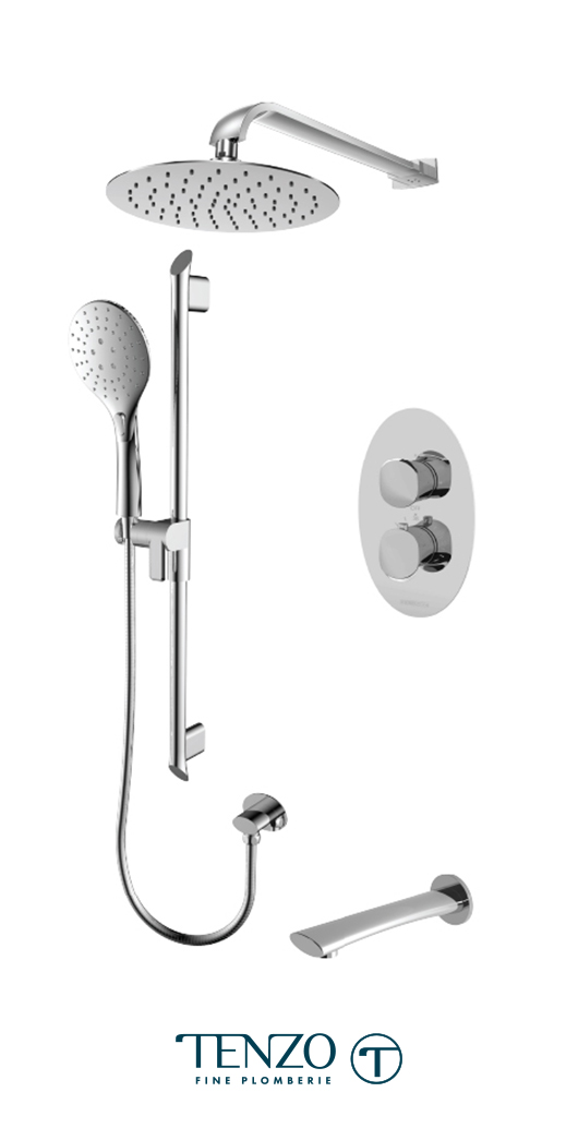 FLT33-503115-CR - Shower kit, 3 functions