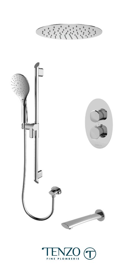 FLT33-511635-CR - Shower kit, 3 functions