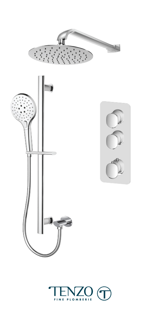 FLT42-20216-CR - Ensemble de douche T-Box, 2 fonctions, Fluvia