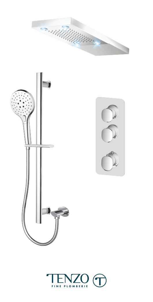 FLT42-21232-CR - Ensemble de douche T-Box, 2 fonctions, Fluvia