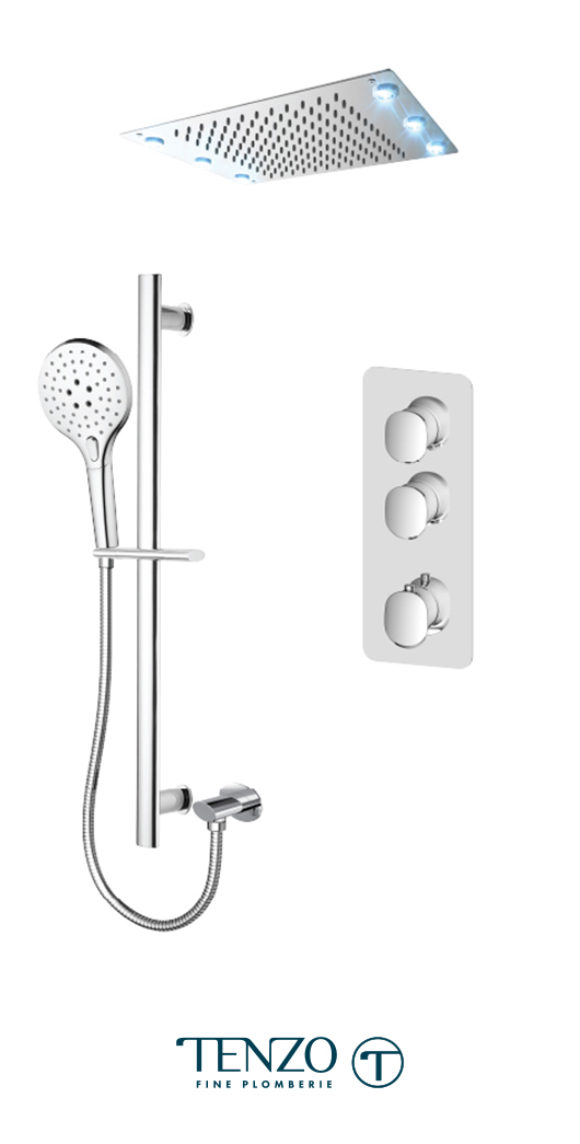 FLT42-21243-CR - Ensemble de douche T-Box, 2 fonctions, Fluvia