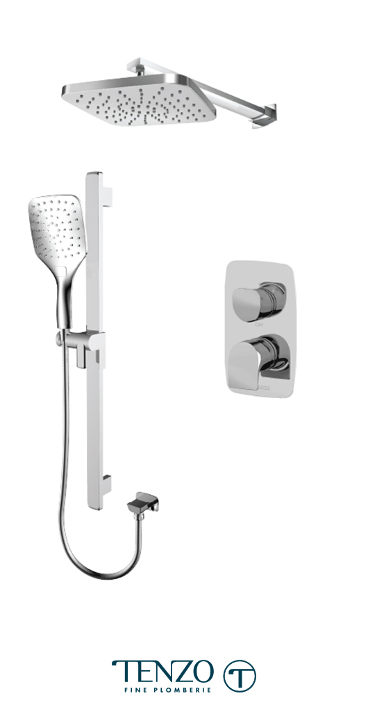 NUPB32-20114-CR - Ensemble de douche T-Box, 2 fonctions, Nuevo
