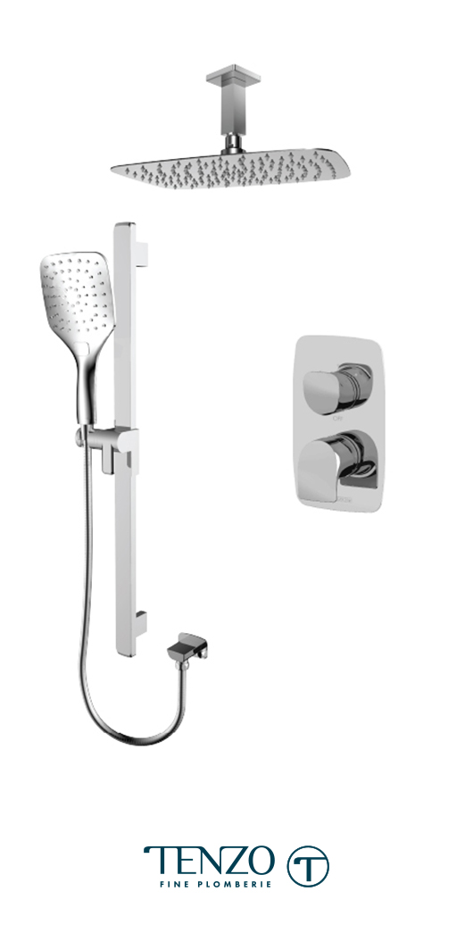 NUPB32-21130-CR - Shower kit, 2 functions