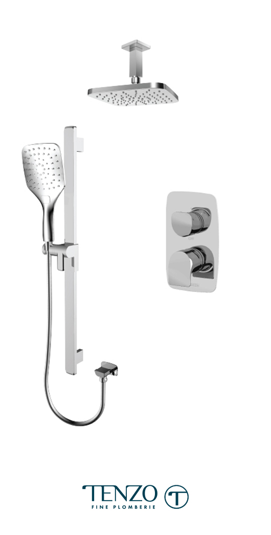 NUPB32-21134-CR - Ensemble de douche T-Box, 2 fonctions, Nuevo