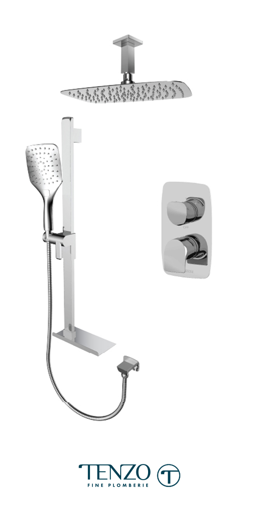 NUPB32-21330-CR - Shower kit, 2 functions