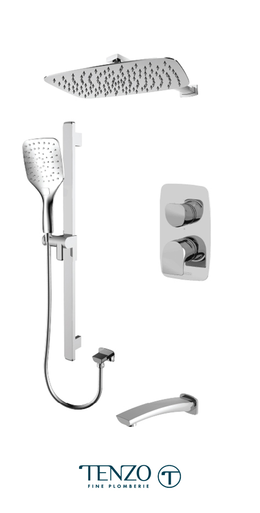 NUPB33-501115-CR - Shower kit, 3 functions