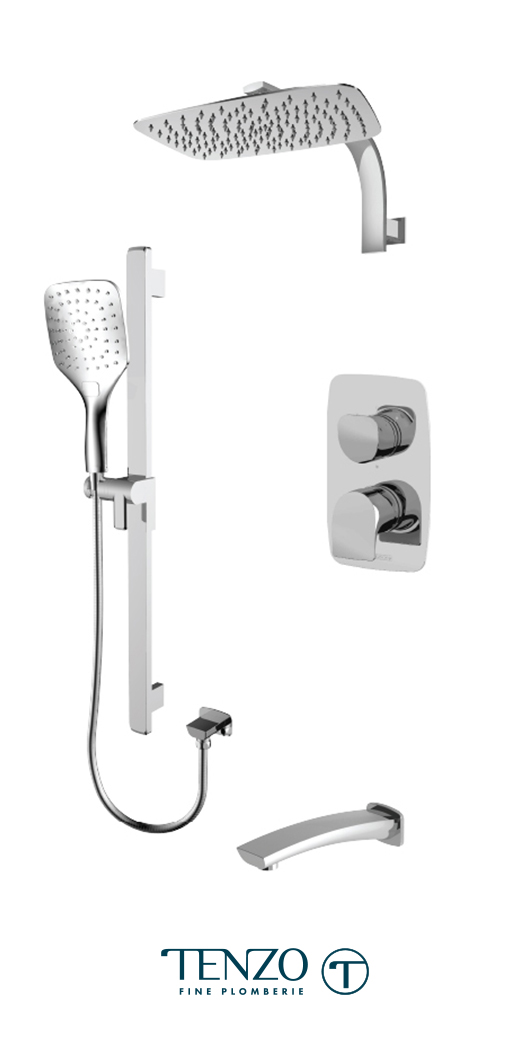 NUPB33-501195-CR - Ensemble de douche T-Box, 3 fonctions, Nuevo