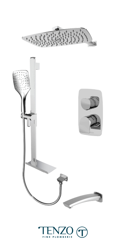 NUPB33-503115-CR - Shower kit, 3 functions