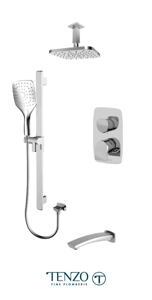 NUPB33-511345-CR - Shower kit, 3 functions