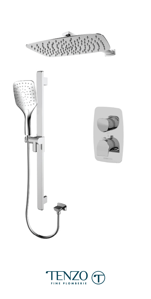 NUT32-20110-CR - Ensemble de douche T-Box, 2 fonctions, Nuevo