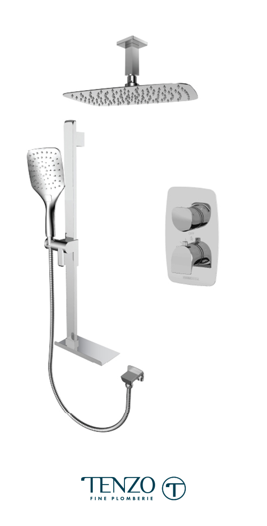 NUT32-21330-CR - Ensemble de douche T-Box, 2 fonctions, Nuevo