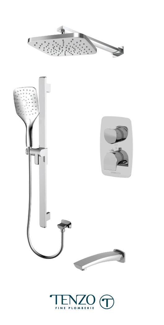 NUT33-501145-CR - Shower kit, 3 functions