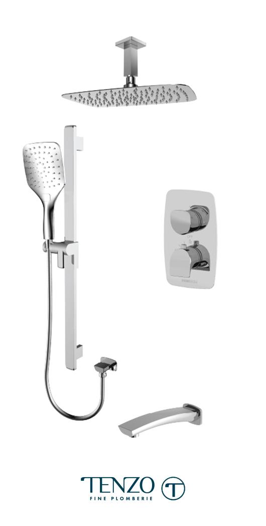 NUT33-511315-CR - Shower kit, 3 functions
