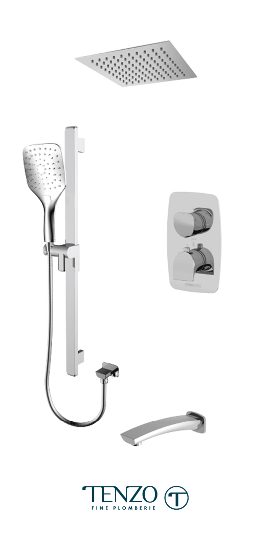 NUT33-511675-CR - Ensemble de douche T-Box, 3 fonctions, Nuevo