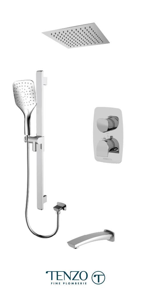 NUT33-511675-CR - Shower kit, 3 functions