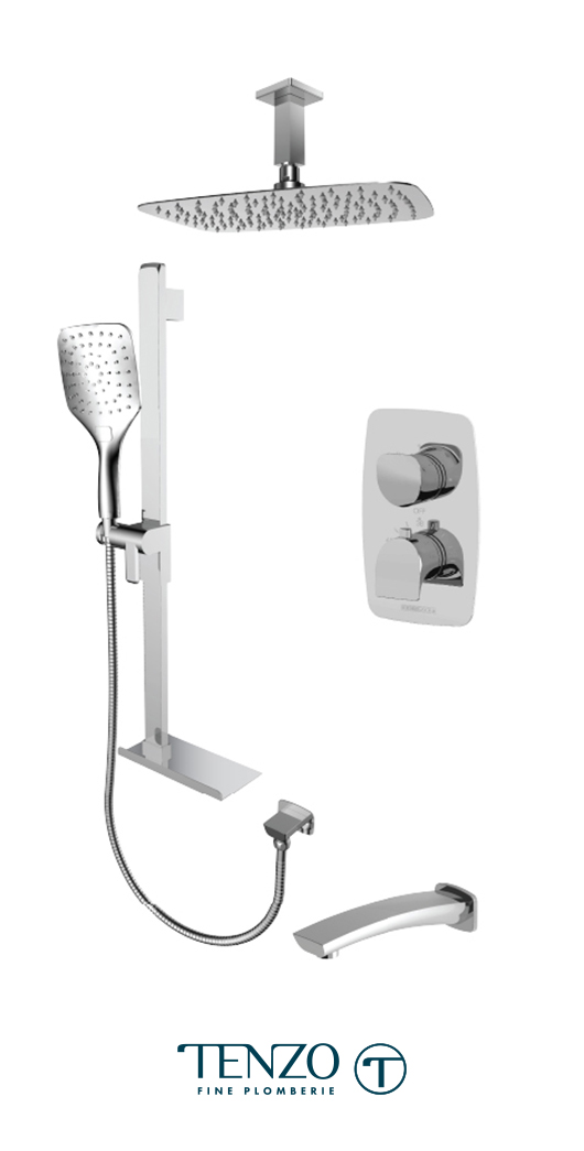 NUT33-513315-CR - Shower kit, 3 functions