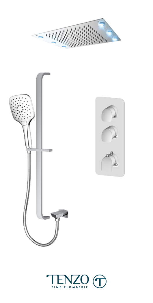 NUT42-22243-CR - Ensemble de douche T-Box, 2 fonctions, Nuevo