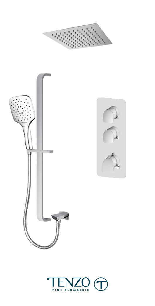 NUT42-22267-CR - Ensemble de douche T-Box, 2 fonctions, Nuevo