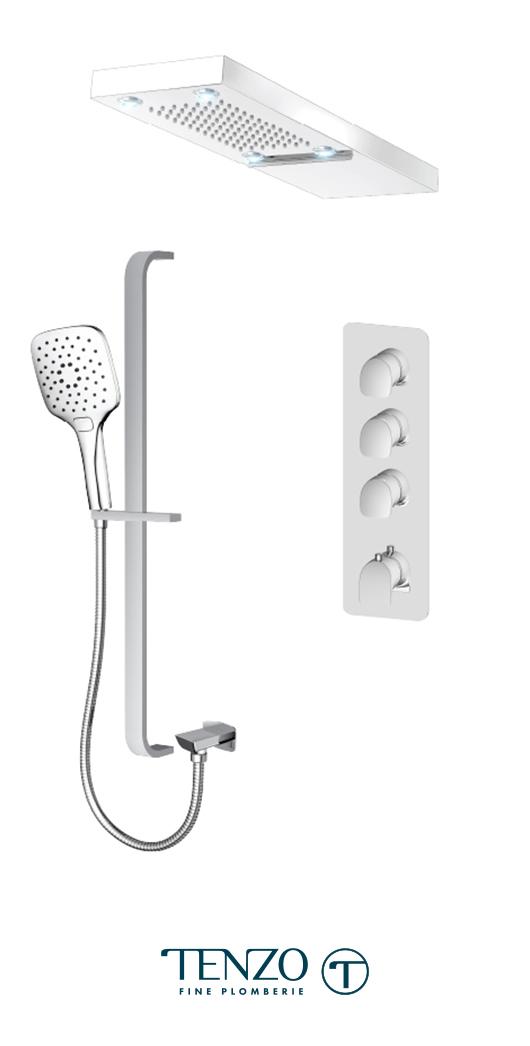 NUT43-54252-CR - Shower kit, 3 functions