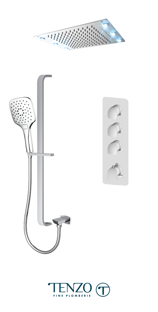 NUT43-55244-CR - Ensemble de douche T-Box, 3 fonctions, Nuevo
