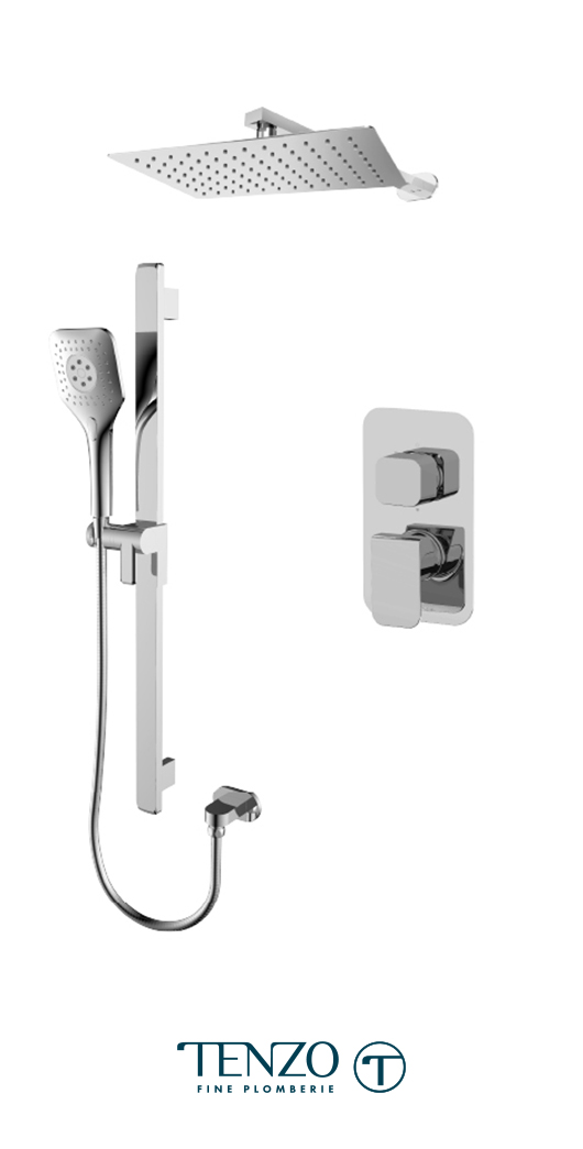 QUPB32-20110-CR - Ensemble de douche T-Box, 2 fonctions, Quantum