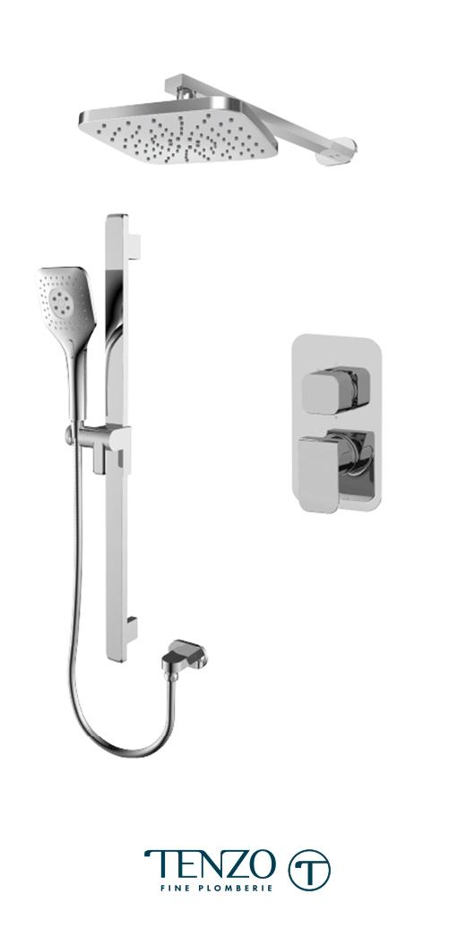 QUPB32-20114-CR - Shower kit, 2 functions