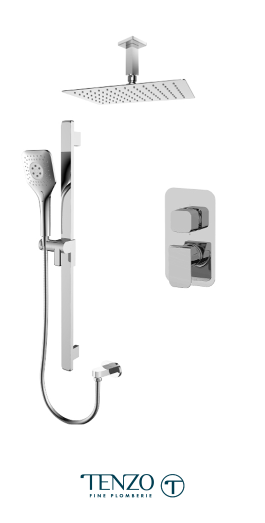 QUPB32-21130-CR - Shower kit, 2 functions