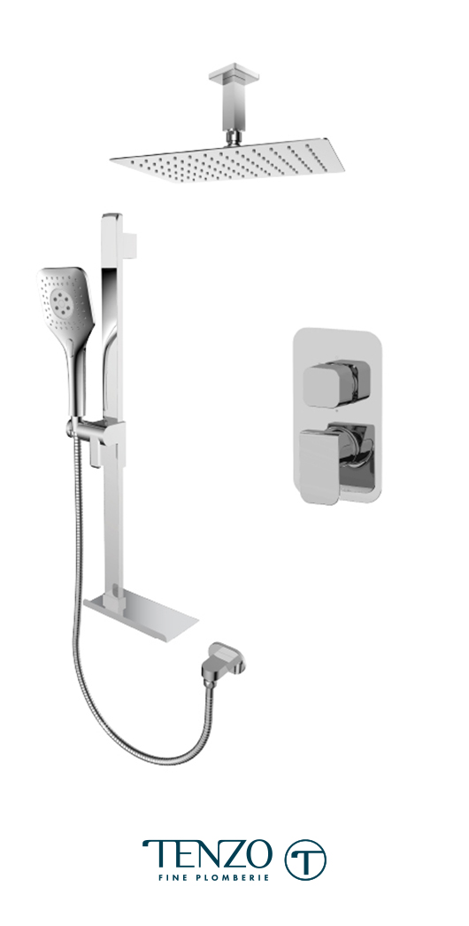 QUPB32-21330-CR - Ensemble de douche T-Box, 2 fonctions, Quantum