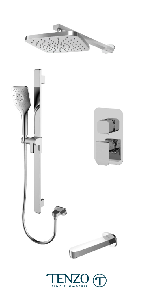 QUPB33-501145-CR - Shower kit, 3 functions