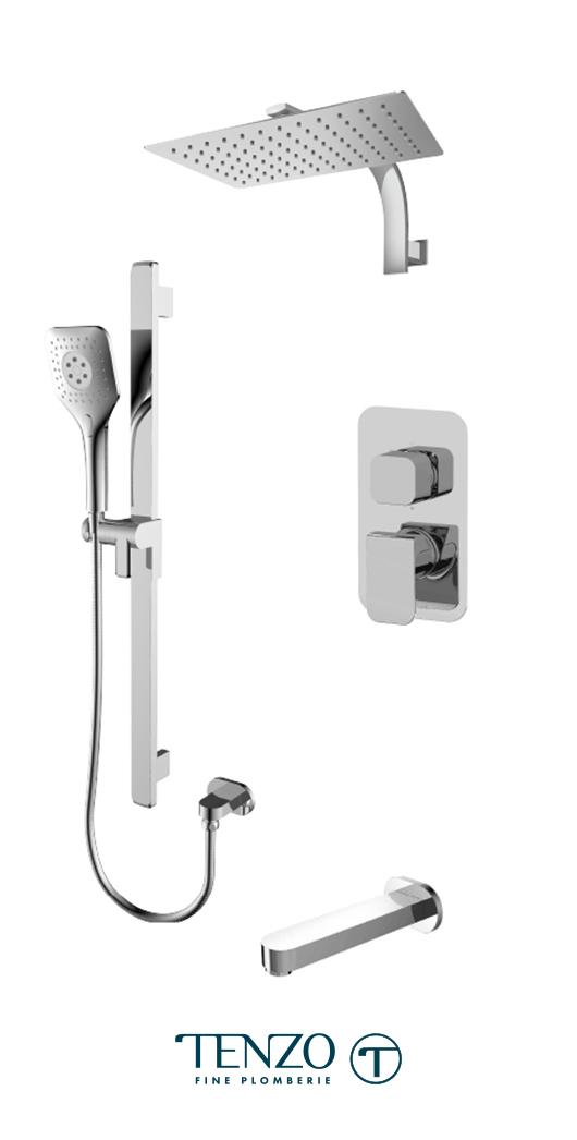 QUPB33-501195-CR - Shower kit, 3 functions