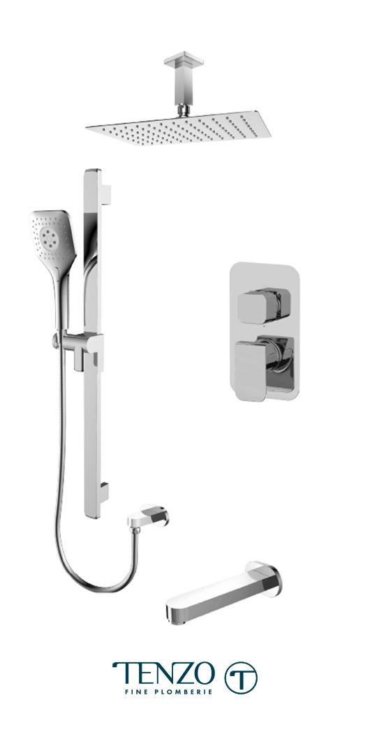 QUPB33-511315-CR - Shower kit, 3 functions