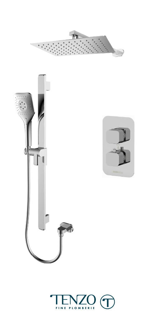 QUT32-20110-CR - Shower kit, 2 functions