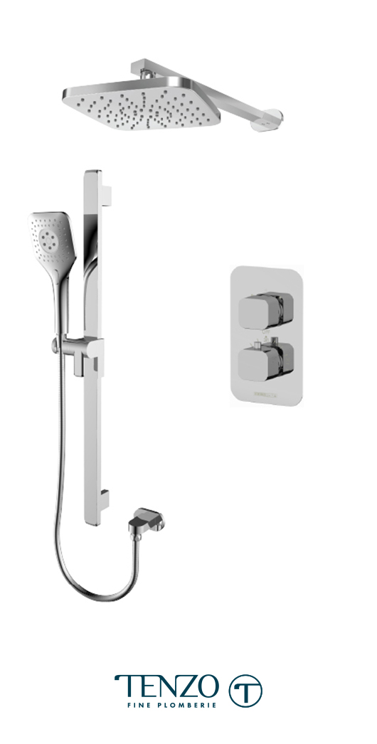 QUT32-20114-CR - Ensemble de douche T-Box, 2 fonctions, Quantum