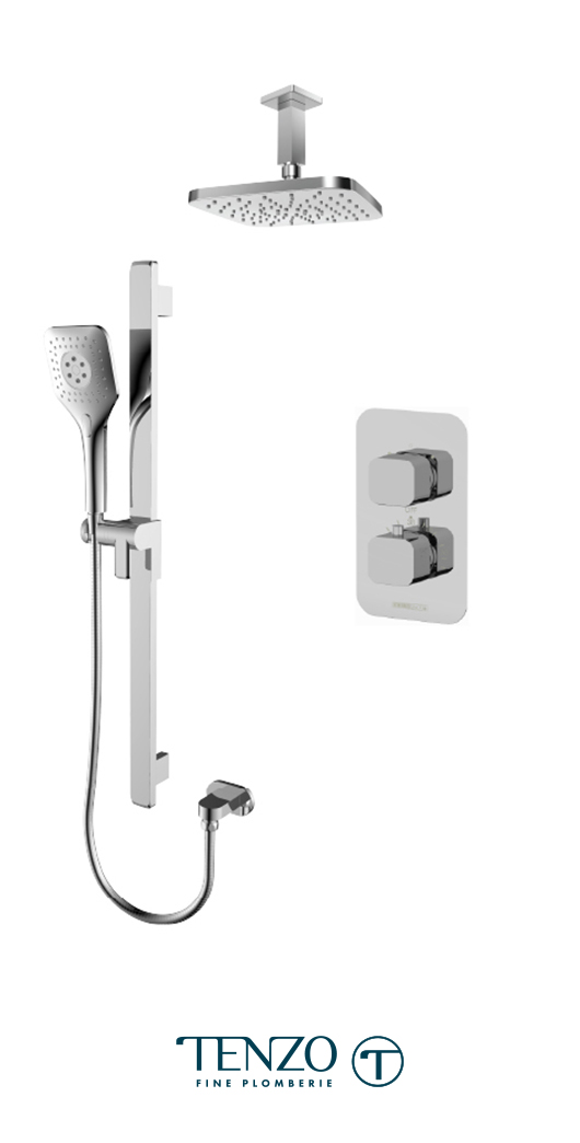 QUT32-21134-CR - Shower kit, 2 functions