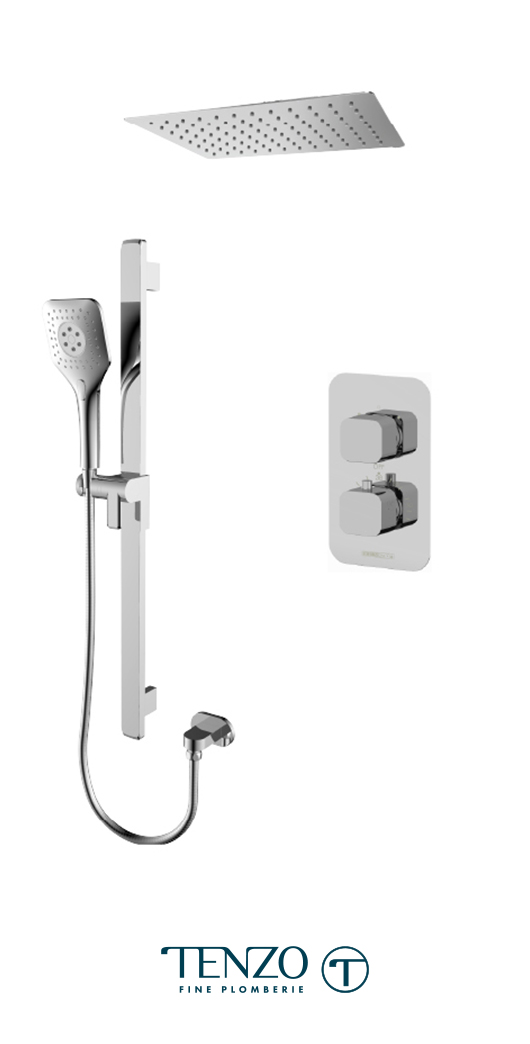 QUT32-21163-CR - Ensemble de douche T-Box, 2 fonctions, Quantum