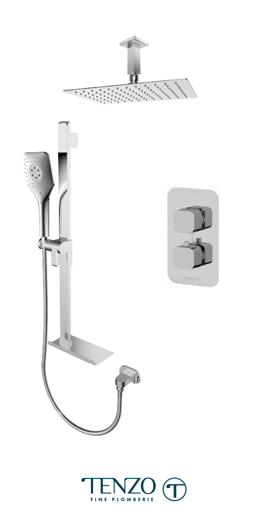 QUT32-21330-CR - Ensemble de douche T-Box, 2 fonctions, Quantum